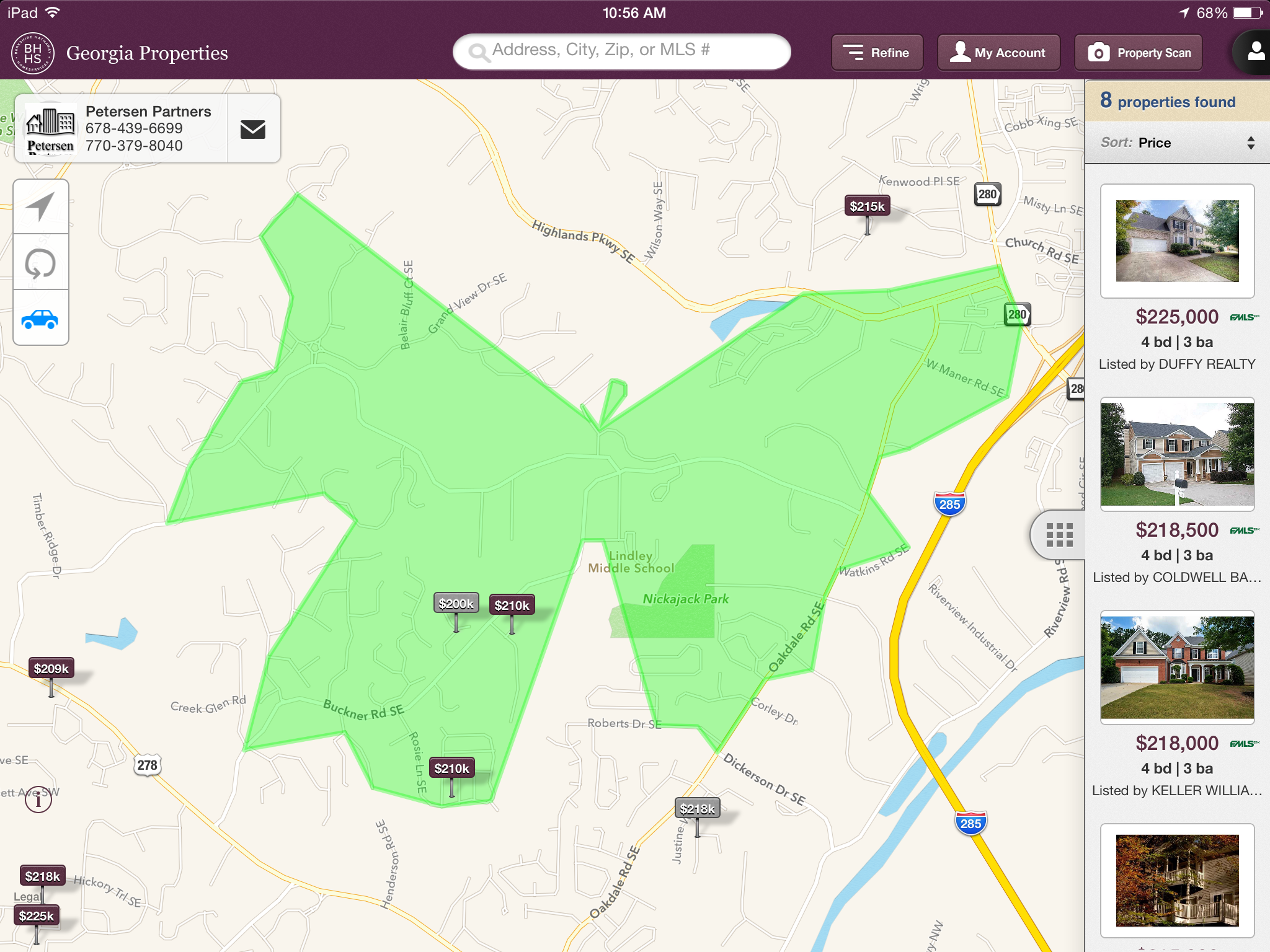 Mobile App Homes Near Whitefield Academy